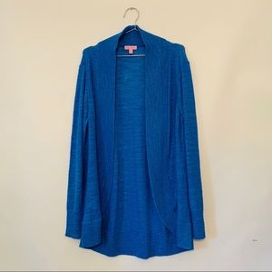 Lily Pulitzer Blue Knit Cardigan Women's XL
